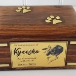 Brass paws with gold photo plaque
