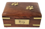 Brass paws with gold name plaque