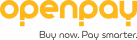 Openpay_Single Line Logo + Strapline_Portrait_RGB_Amber & Grey_130320