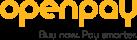 Openpay_Single Line Logo + Strapline_Portrait_RGB_Amber & Grey_130320
