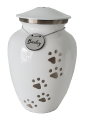 Silver paws to heaven urn